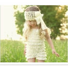 Wide Lace Flower Bow Baby Infant  Kid Girl Headband Hairband Hair Accessory Hat