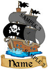 CUTE PIRATE IRON ON TRANSFER FOR T-SHIRTS VESTS Etc PERSONALISED FREE 01-03
