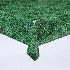 GRASS VINYL WIPE CLEAN TABLECLOTH TABLE COVER
