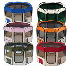"""57"""" Pet Playpen X-Large Cage Exercise Crate Tent Puppy Dog Kennel Color Option"""