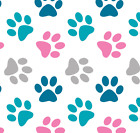 40 PAW PRINT STICKERS - Use on car, home, furniture, 22 colour choices [S3]