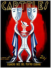 "259.Cuban poster""Cuba THEATER""Guayabera style fashion.interior design cover art"