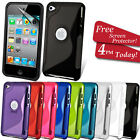 GRIP S-LINE SILICONE GEL CASE FITS APPLE IPOD TOUCH 4 FREE SCREEN PROTECTOR