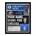 Personalised Official Chelsea FC Football Club Printed Newspaper Gift idea