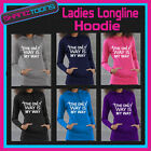 THE ONLY WAY IS MY WAY HEN PARTY TOWIE ESSEX LADIES TEENAGERS LONGLINE HOODIE