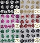 FABRIC GLITTER 20mm DAISY FLOWER IRON-ON DIY T-SHIRT TRANSFER PATCH CARD MAKING