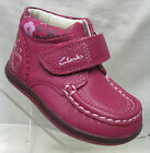 Girls Clarks Alana Fay Inf  boots Raspberry leather.