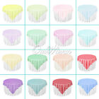 "10pcs 72"" Square Organza Table Overlay Cloth Wedding Party Supply Sheer Colours"