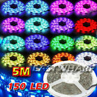 Waterproof SMD 5050 RGB 150 LED Strip Light Colour Changing Remote Control Light