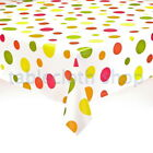 BUBBLES VINYL WIPEABLE TABLE PROTECTOR TABLECLOTH