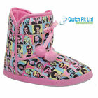LADIES SLIPPER ANKLE BOOTS WOMENS SLIPPERS WINTER WARM FUR BOOTIE 3 - 8 UK NEW