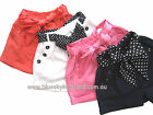 NEW Girls Shorts/Hot Pants with Satin Sash SZ 3-4-5-6-7-8 PINK-WHITE-NAVY-ORANGE