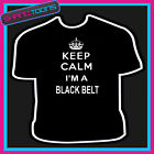 KEEP CALM I'M A BLACK BELT KARATE MARTIAL ARTS ADULTS MENS LADIES GIFT TSHIRT
