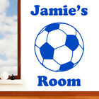 Childrens Football Personalised with Name Door or Wall Sticker - Art Vinyl Decal