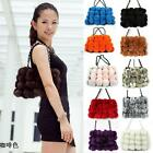 Cute Love Genuine Real Farm Rex Rabbit Fur Handbag fashion charm outwear Stylish