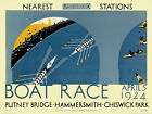 LONDON TRANSPORT (1 )BOAT RACE  PRINT ON WOOD OR FRAMED OR MOUNTED & FRAMED