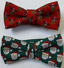 Christmas Santa Reindeer Novelty Bow Ties UK Manufactured