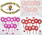 FABRIC GLITTER DADDY GIRL BALLOON iron-on CUSTOMIZE TSHIRT CRAFT TRANSFER PATCH