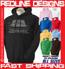 MK1 TRANSIT CLASSIC FORD RETRO VAN HOODIE DTG ALL SIZE & COLOURS AVAILABLE R23