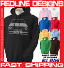MK2 FORD ESCORT MARK TWO RETRO CAR HOODIE DTG ALL SIZE & COLOURS AVAILABLE R25