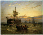 A Dismantled East Indiaman in the Thames Estuary; c.1850 -WILLIAM ADOLPHUS KNELL