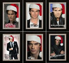 THE VAMPIRE DIARIES IAN SOMERHALDER MERRY CHRISTMAS GREETING CARD PHOTO FAN GIFT