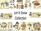 Let it Snow Country Snowman Winter  Collection  Scrapbooking Embellishments