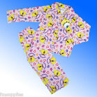 Spongebob Flannel Wincey Warm Pyjamas Age 3-10 Years *1st Class Fast Despatch