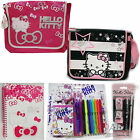 Official Hello Kitty Pencil Case, Messenger Bag A5 Notebook Stationary Pen Sets