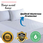 """QUILTED MATTRESS PROTECTOR LUXURY BED COVER """"SPECIAL OFFER"""" ALL SIZES UK NEW"""