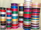 SATIN RIBBON Double Faced full reel 3/10/16/25mm Wide Roll 25m or 50m long