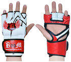 Boxing MMA Grappling Gloves Leather Gel Tech Punch Bag Training Muay Thai UFC UK