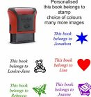 Personalised rubber stamp 4911, this book belongs to, child,library,school etc