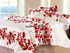 4pcs Silk Duvet Cover Fitted Sheet Pillow sham Set Twin Full Queen King Cal King