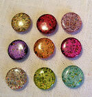 LOT 6 BOUTONS 1/2 BOULE PERLE BIJOUX Cristaux Brillants - 12mm - COUTURE TRICOT