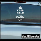 Keep Calm and Carry On Vinyl Wall Decal or Car Sticker