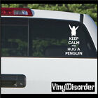 Keep Calm and Hug a Penguin Vinyl Wall Decal or Car Sticker