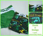 BNWoT Boys Duck & Dodge  * 2 pack *  Monster Green SWIMMING Shorts 3 - 6 yrs