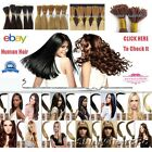 24''Beauty Wrap Remy Fusion I Stick Tip Human Hair Extensions 9Color Salon Style