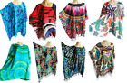 Ladies KAFTAN/PONCHO, tunic top, beach wear, one size, fits large plus size, new
