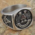 Mens Masonic Ring 32 Degree Scottish Rite Master Freemason Square G Size 9-13