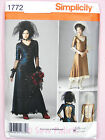 Simplicity 1772 Sewing Pattern Ladies Steampunk Bride Dress Costume Bridal Veil