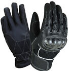 New Mesh Motorcycle Bikers Sports Touring Leather/ Kevlar knuckle Gloves