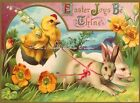 Vintage Postcard REPRO Easter Fabric Block Choose 5x7 or 8x10