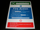 Fire Action Assembly Point Sign Or Sticker Choice Of Sizes Screen Printed Exit