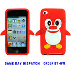 Cute Penguin For Apple iPod Touch 4/4th Gen/Generation  Silicone Skin Case Cover