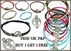Cross Hope Hippy Karma Friendship Wish Charm Bracelet FREE P&P BUY1 GET 1 FREE