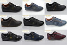 New Mens Nicholas Deakins Trailblazer Blue Black Patent Trainers Sneakers Pumps