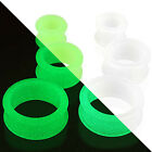 Glow in the Dark Silicone Flexible Double Flared Tunnel