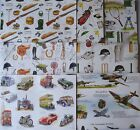 BIRTHDAY GIFT WRAPPING PAPER - CARS AEROPLANES TENNIS GOLF HORSE LANCASTER SHOOT
